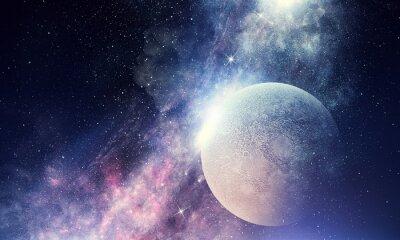 Fototapete Sternenhimmel und Mond.