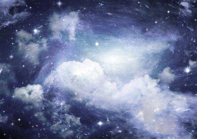 Fototapete Sternfeld im Raum und ein Nebelfleck