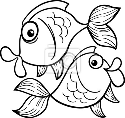 Sternzeichen fische oder fisch malvorlagen fototapete • fototapeten ...