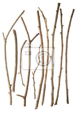 Sticks isoliert