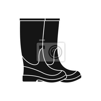 Ein Paar Stiefel Isolierten Auf Weißen Hintergrund