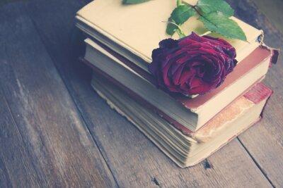 Fototapete Stieg auf Bücher