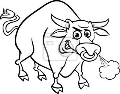 Stier nutztier seite färbung fototapete • fototapeten Bullock, ox ...