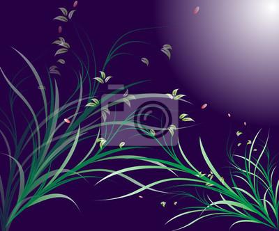 Stilisierte florale Design-Element mit Blumen und wirbelt