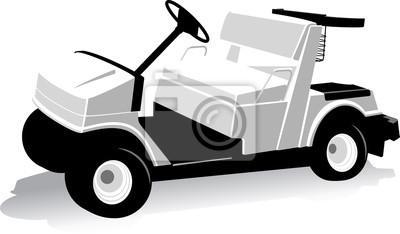 Stilisierte Golf Cart
