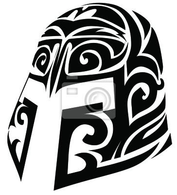 Stilisierte Helm Tattoo-Design