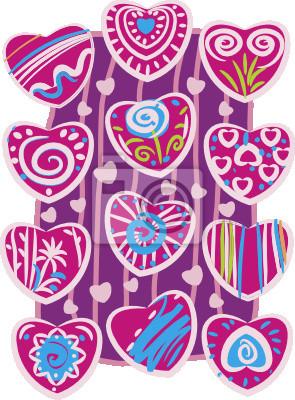 Stilisierte Herzen für Design