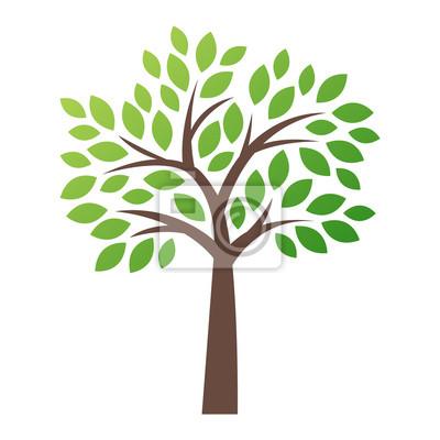 Fototapete Stilisierte Vektor-Baum-Logo-Symbol