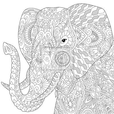 Tolle Elefanten Färbung Bilder Fotos - Beispielzusammenfassung Ideen ...