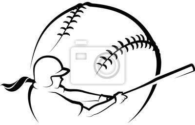 Stilisierter weiblicher Softball-Teig