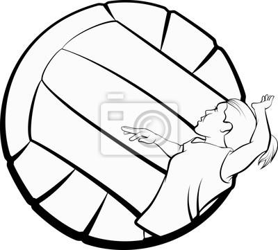 Stilisiertes Volleyball-Mädchen
