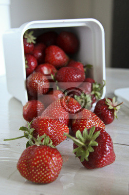 Stillleben mit Erdbeeren