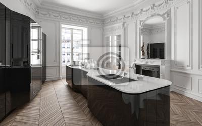 Stilvolle Klasse Schwarz Weiss Moderne Kuche Fototapete Fototapeten