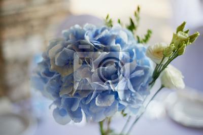 Fototapete Stilvolle Modische Hochzeit Bogen Zeremonie Mit Blauen Und Weissen