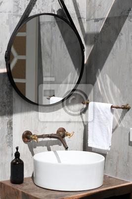 Stilvolles retro-badezimmer fototapete • fototapeten Fußboden, Küche ...