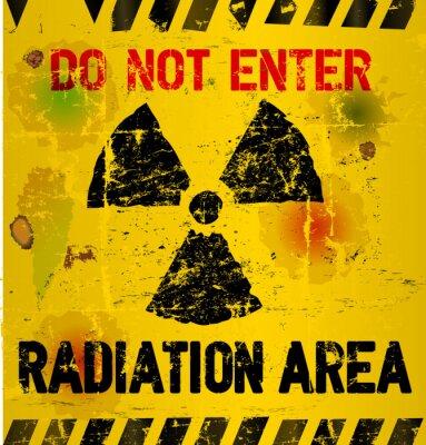 Fototapete Strahlungsbereich Warnung, Vektor-Illustration