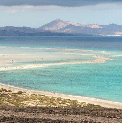 Fototapete Strand Playa de Sotavento, Kanarische Insel Fuerteventura, Spanien
