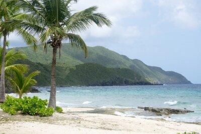 Fototapete Strand und Berge in St. Croix