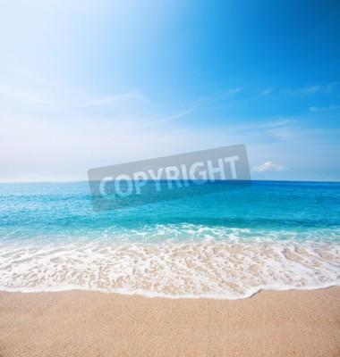 Fototapete Strand und wunderschönes tropisches Meer