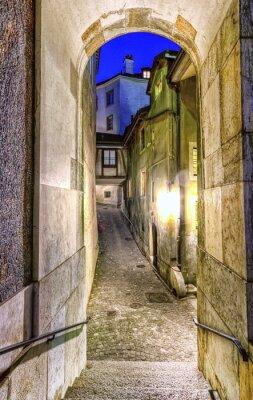 Fototapete Straße in der alten Stadt, Genf, Schweiz