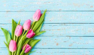Fototapete Strauß Tulpen Rosa