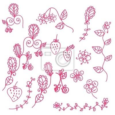 Strawberry rosa Grafik-Design-Elemente