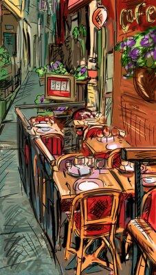 Fototapete Street in Roma - Illustration