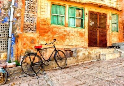 Fototapete Street View der alten Viertel in Jodhpur Stadt in Indien