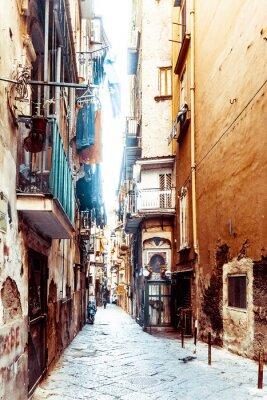 Fototapete Street View der Altstadt in Neapel Stadt