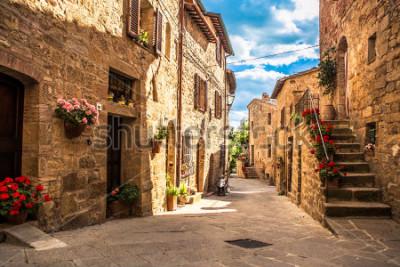 Fototapete streets of Italian city, Tuscany, Italy