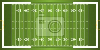 Strukturierte Grass American Football Field