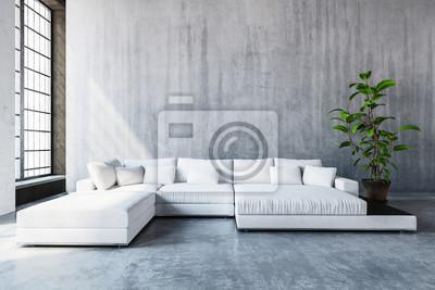 Sofa Wohnzimmer, stylish moderne sofa tagesbett in einem wohnzimmer fototapete, Design ideen