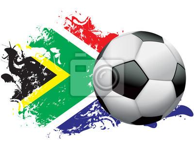 Südafrika Fussball-Schmutz-Entwurf