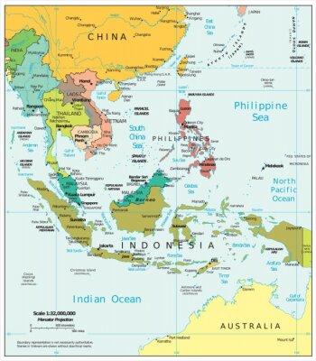 Fototapete Südostasien politischen Spaltungen