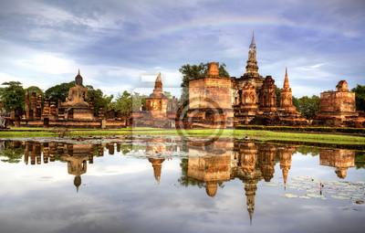 Sukhothai Historical Park in Thailand iland .