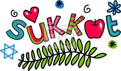 Sukkot Cartoon Doodle Text