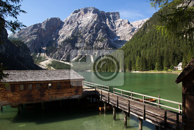 Fototapete sul lago capanna