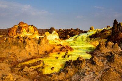 Fototapete Sulphur See in Danakil Depression, Äthiopien