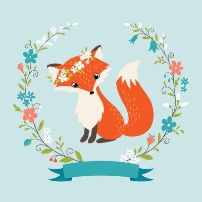 Fototapete Summer fox