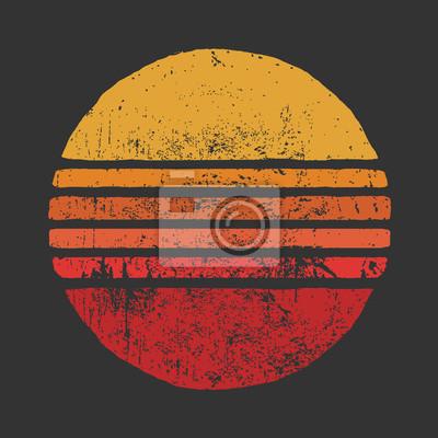 Fototapete SUN Vintage Circle IllustrationsBasic RGB