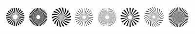 Fototapete Sunburst element radial stripes or sunburst backgrounds