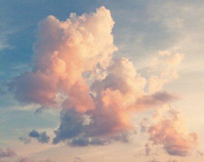 Fototapete Sunny Himmel Hintergrund im Vintage-Retro-Stil