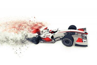 Fototapete Superfast 3D generischen Rennwagen