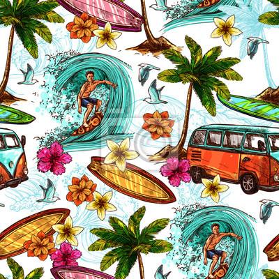 Surf-nahtloses Muster