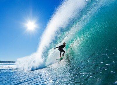 Fototapete Surfer auf Blue Ocean Wave