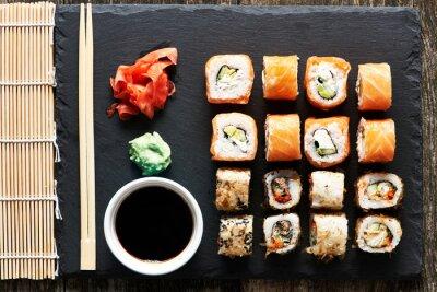 Fototapete Sushi Rollen
