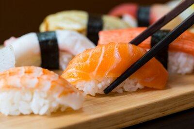 Fototapete Sushi set, Japanese food