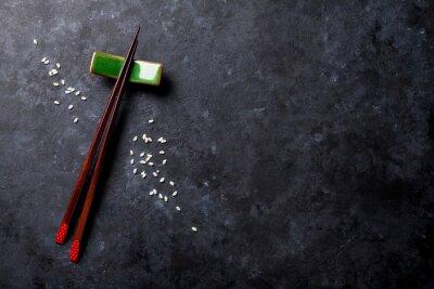 Fototapete Sushi Stäbchen