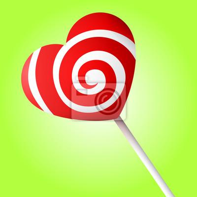 Süßigkeit Herz-Vektor