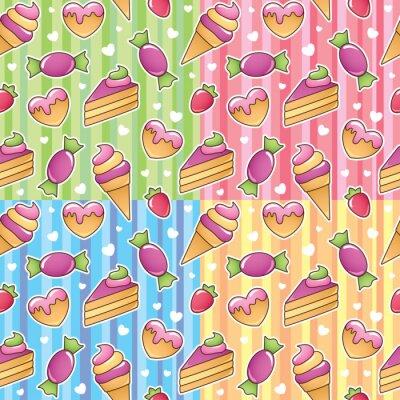 Fototapete Süßigkeiten Muster